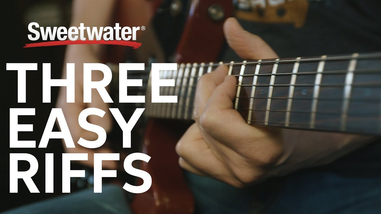 Learn 3 Easy Guitar Riffs With Don Carr Youtube