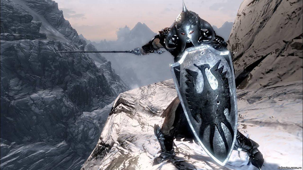 Skyrim сборник hd брони и оружия