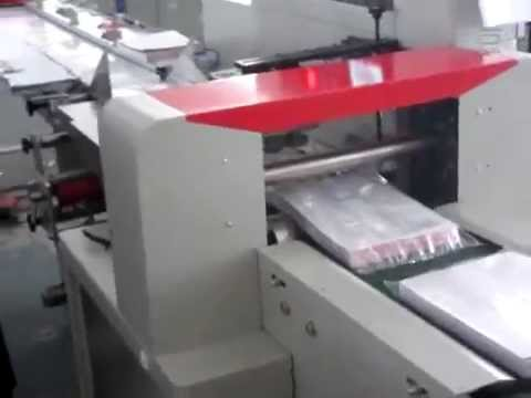 auto flow packing machine for paper horizontal bagging system with CE