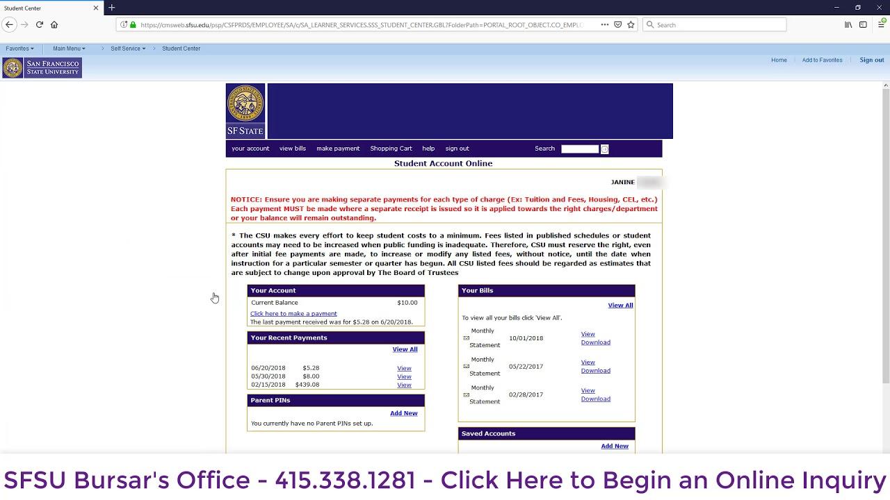 SF State Registrar's Office |