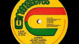 MICHAEL PROPHET   Gunman 12 inches 1981 Greensleeves