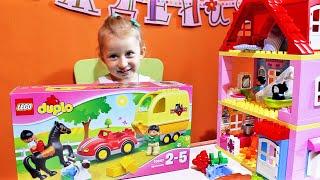 ИГРАЕМ! Конструктор ЛЕГО ДУПЛО Трейлер для лошадок 10807 LEGO DUPLO Hore Trailer Unboxing & Playing