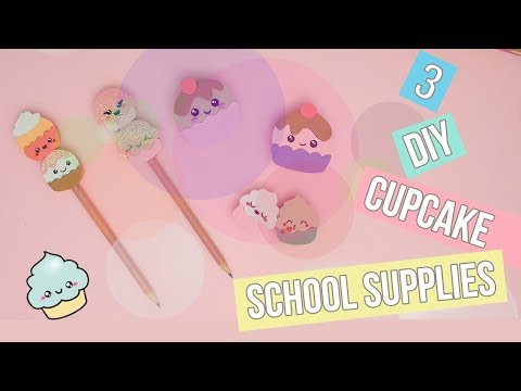 3 DIY School Supplies - eraser, sharpener, pencil topper