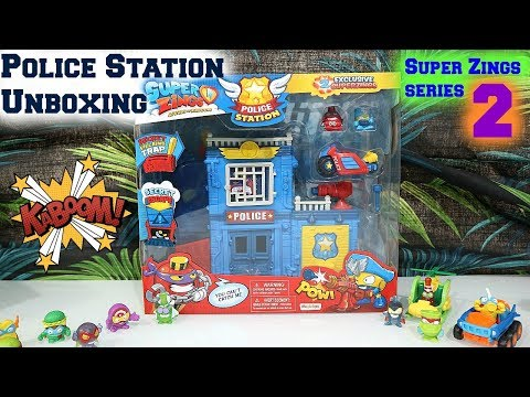 Super Zings Police Station Unboxing #superzingsseries2 #collectables