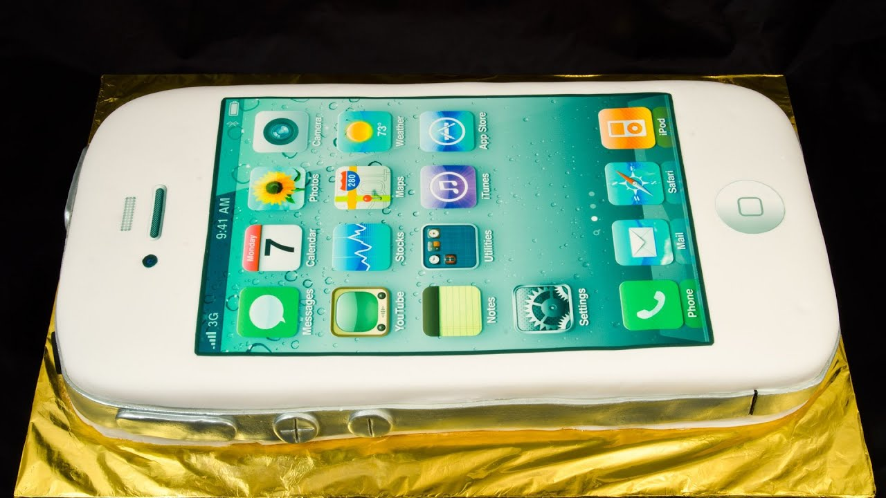 Iphone Cake By Cookies Cupcakes And Cardio