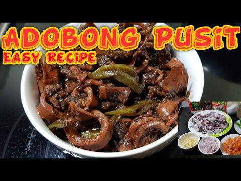 ADOBONG PUSIT || PANLASANG PINOY || PANG CARINDERIA NEGOSYO || Quick And Easy Recipe