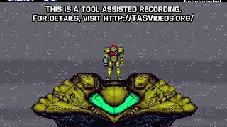 "[TAS] SNES Super Metroid ""game end glitch"" by Sniq in 07:05.83"