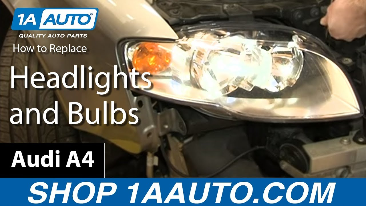 maxresdefault how to replace headlights and bulbs 05 08 audi a4 youtube
