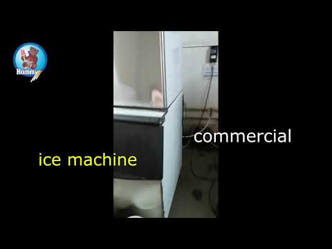 3 HM ICM 550 ice maker commercialmaker working in hommy factory