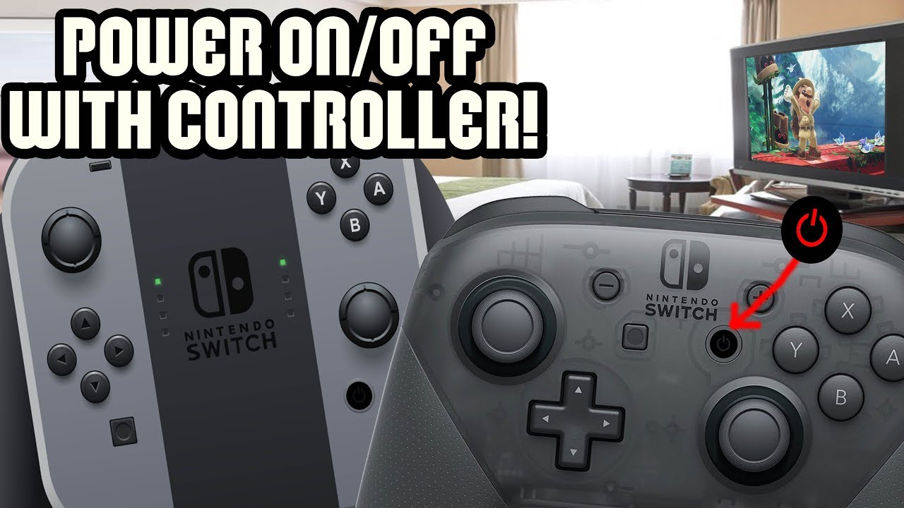 Secret Nintendo Switch Power Button?? How to Turn On/Off Switch With  Controller