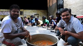 Traditional Mutton Gravy Recipe | Full Goat Curry | Home Made Big Meal For Orphans