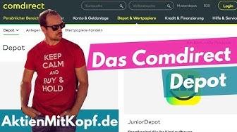 Das Comdirect Depot - Ideal für Aktienanfänger - Online Broker Teil 1