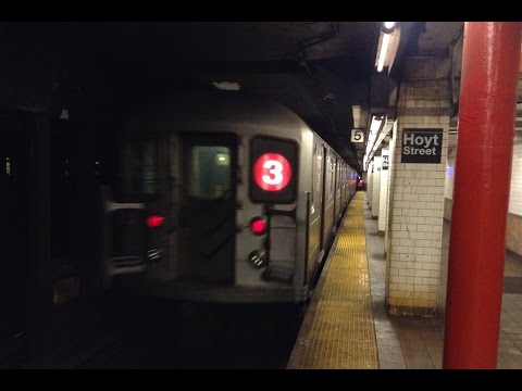 IRT Eastern Parkway Line: Manhattan & Brooklyn Bound R142 & R62 (2) (3) (4) (5) Trains @ Hoyt Street