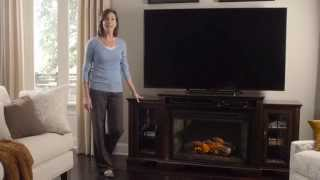 Media Console with Fireplace Promo