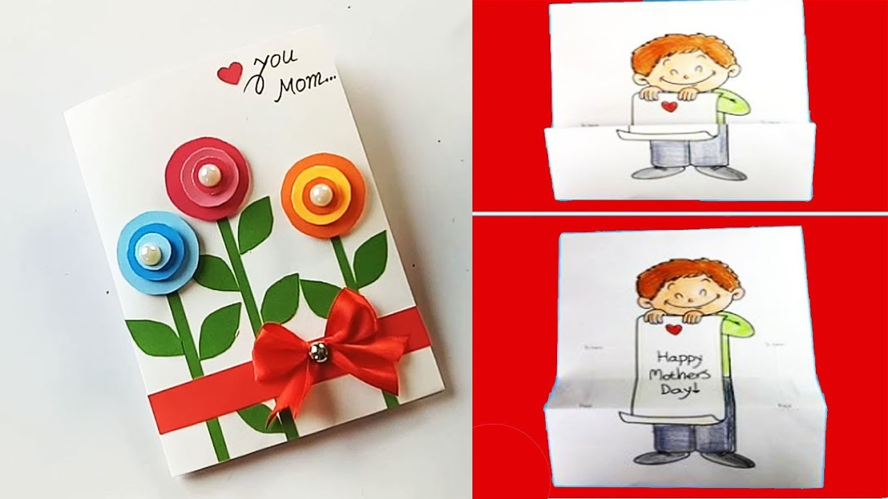 Handmade Mother's Day card /Mother's Day card making idea... - YouTube