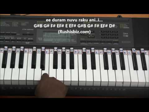 Manasantha Nuvve - BGM (Piano Notes & Tutorials)