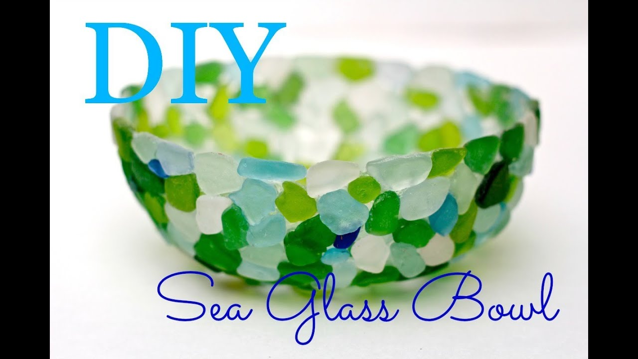 how to make a seaglass bowl with tacky glue and sandwich wrap youtube - How To Make Sea Glass