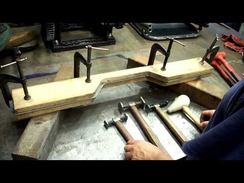 Fabrication of a Willys Jeep Body Tub- Rear Floor Cross Sill