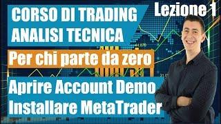 Corso base gratis di Trading e A.T. su Forex e CFD -  Conto demo e MetaTrader | lezione 1