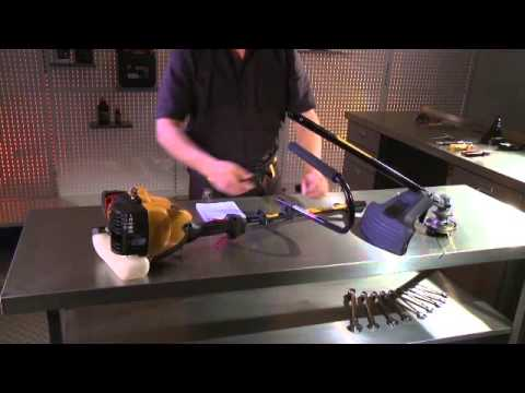 How to - Assemble your petrol powered grass trimmer ready for use.
