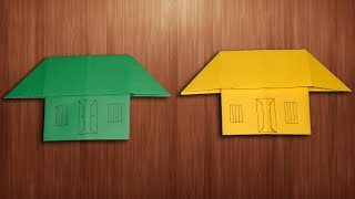 How To Make Paper Home Easily For Kids - Origami House Making
