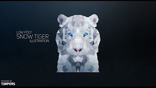 Photoshop Speed Art | Low Poly Tiger