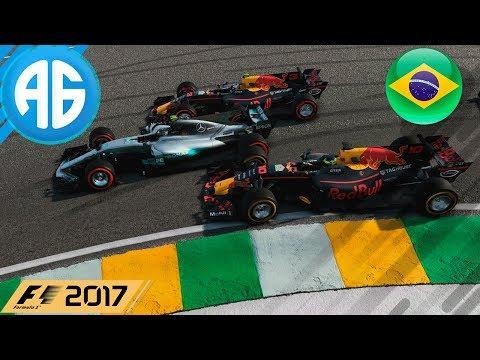 F1 2017 #99 GP DO BRASIL- MUDAMOS O CAMPEONATO? (Português-BR)  5ª TEMPORADA