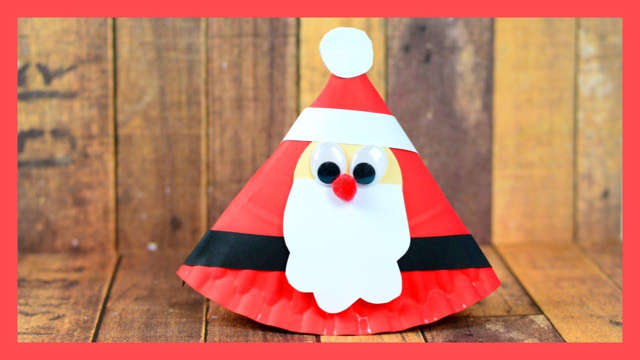 Rocking Santa Paper Plate Craft - cute Christmas crafts for kids & Rocking Santa Paper Plate Craft - cute Christmas crafts for kids ...