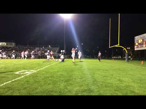 Theo Day hits Aidan Hutchinson for Dearborn Divine Child touchdown against East Lansing