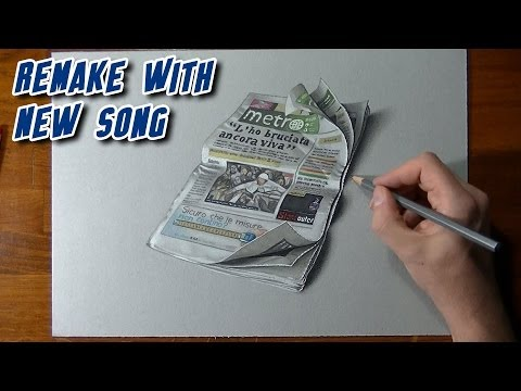 Crazy realistic drawing Metro newspaper Travel Video