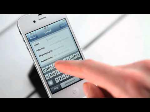 TDC Erhverv - opsætning af privat e-mail på din iPhone - YouTube