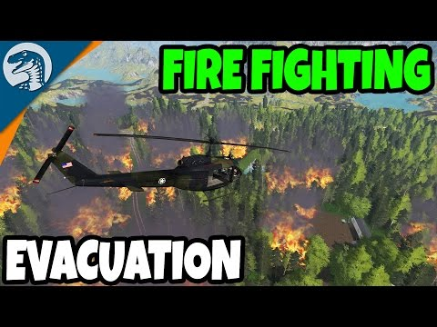 MASSIVE FOREST FIRE EVACUATION & FIRE FIGHTING | Farming Simulator 17 Multiplayer Gameplay
