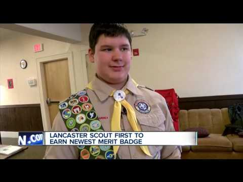 Lancaster Boy Scout Is The First To Earn Newest Merit Badge