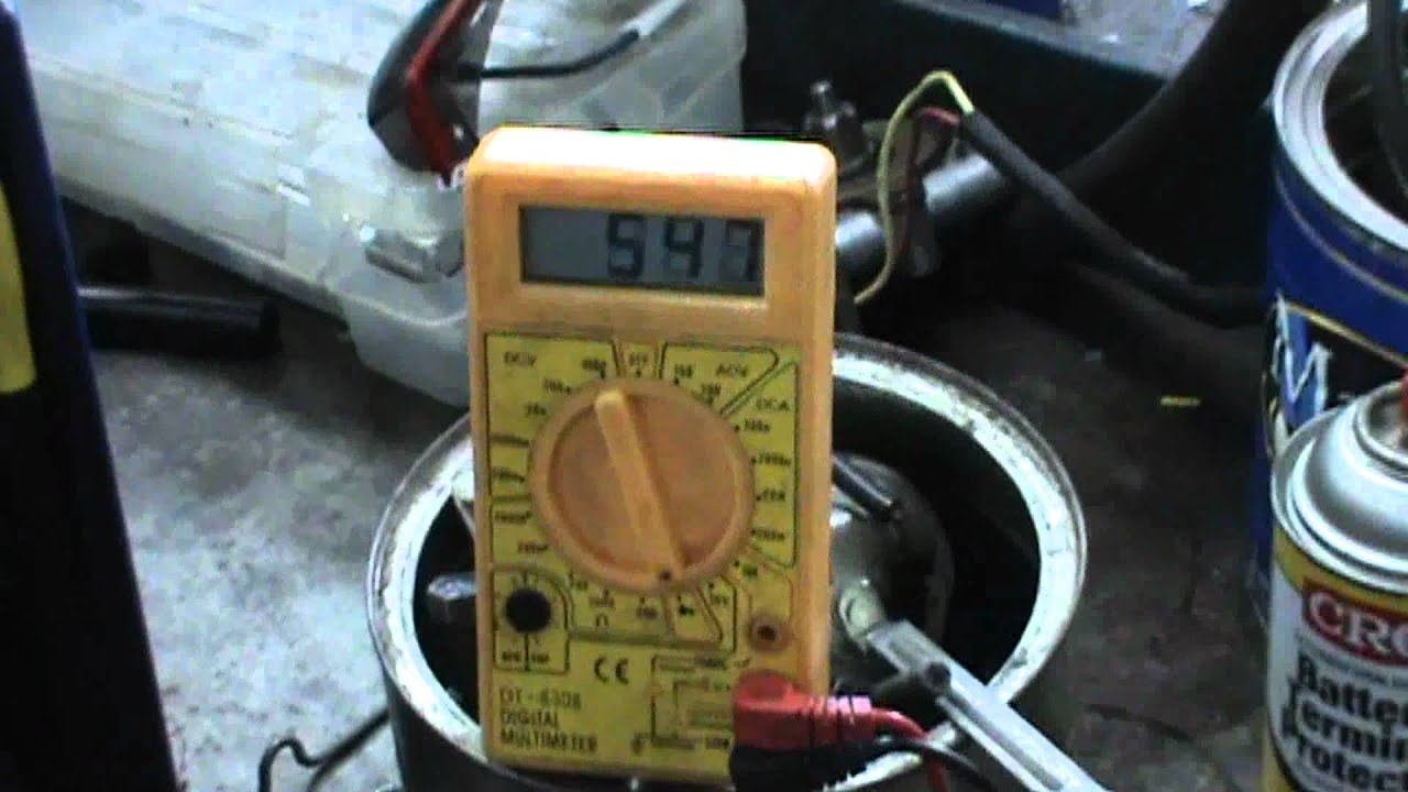 quick alternator diode test