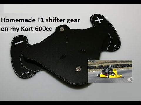 My homemade F1 gear shifter on 600cc MONSTER KART