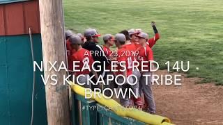 Nixa Eagles Red 14U vs Kickapoo Tribe Brown April 23, 2019