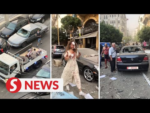 Eyewitness video shows injured people in Beirut's streets
