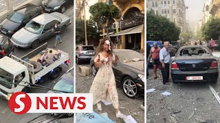 Eyewitness video shows injured people in Beirut's streets