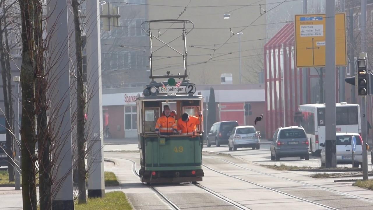 Straßenbahn Bremen Letzte Fahrt Von Wagen 49 Molly Vor Der