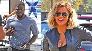 Khloe Kardashian And Kevin Hart Take Over YMCA For 'What The Fit?' Filming