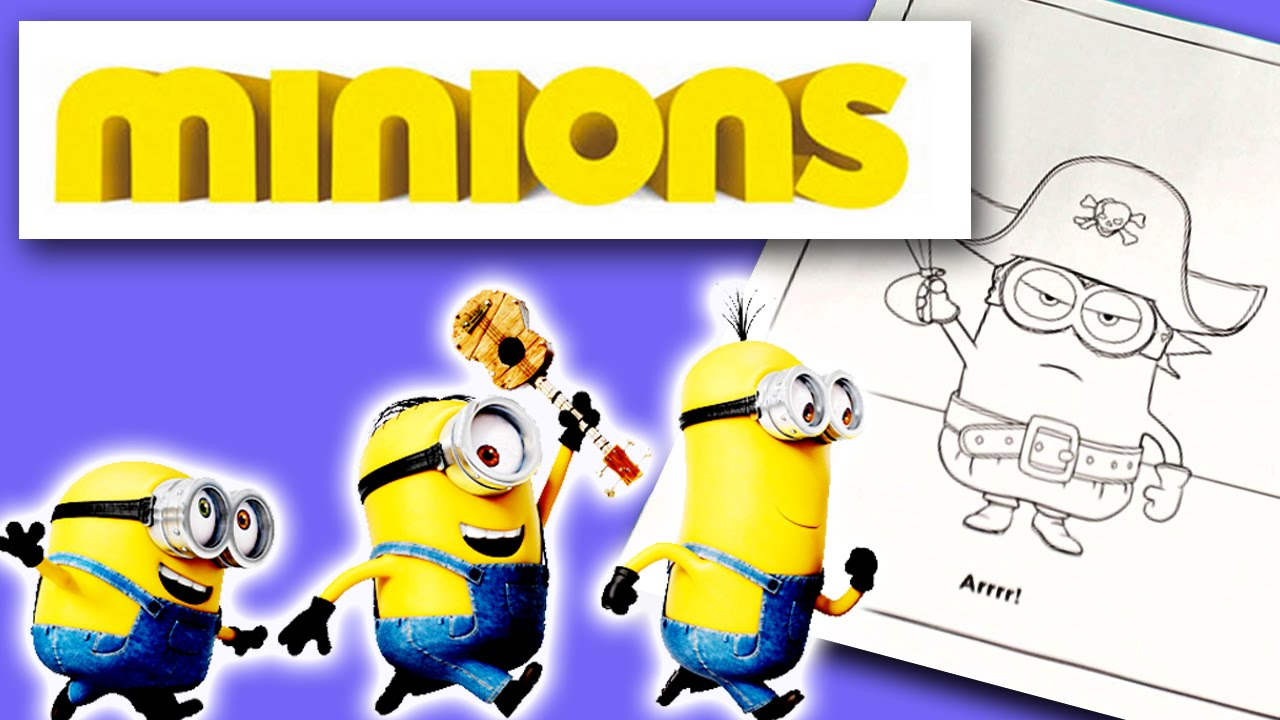 speed coloring of despicable me minion pirate color page youtube