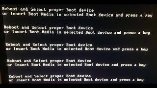 Bilgisayar Açılmıyor Reboot and Select Proper Boot Device or Insert Boot Media in Selected Boot Devi