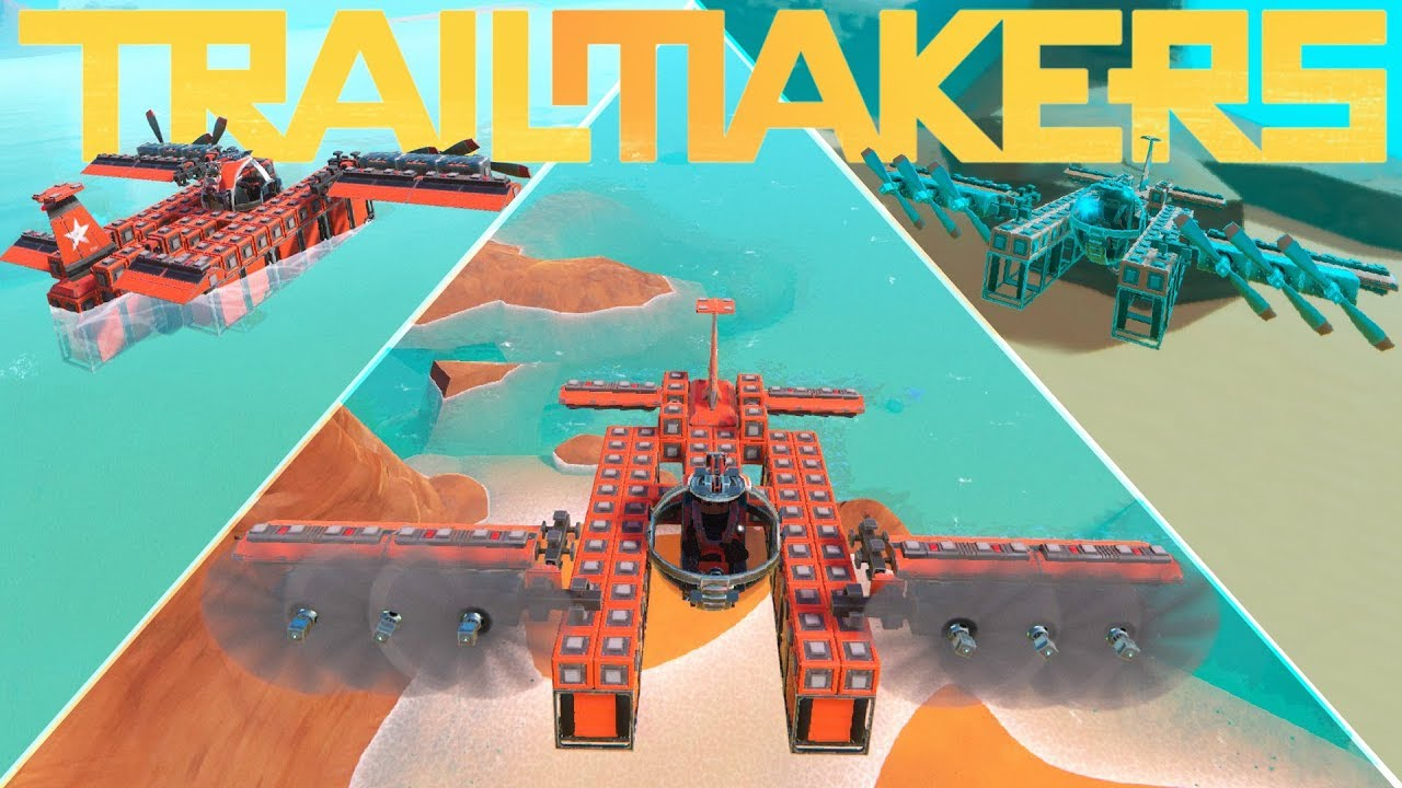 Trailmakers - 3 in 1 Submarine Boat Plane Build! - Trailmakers Gameplay