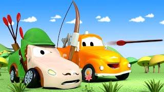 Малярная Мастерская Тома - Мэт Робин Гуд - Автомобильный Город 🎨 детский мультфильм