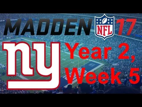 Madden 17 New York Giants Franchise - vs Oakland Raiders, Y2W05