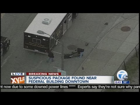 Suspicious package found near Federal Building in Downtown Detroit
