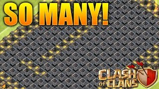 "Clash of Clans - ""FARMING TONS OF WALLS!"" How To Farm Walls & Gain Trophies Fast!"