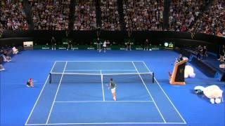 Federer vs Tsonga Amazing Match Point | Australian Open 2014