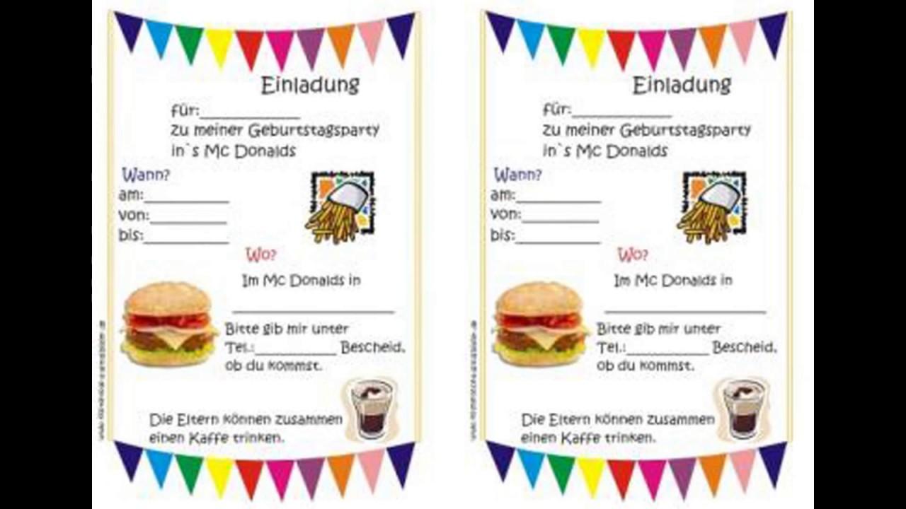 Einladungen Geburtstag: EINLADUNGEN GEBURTSTAG