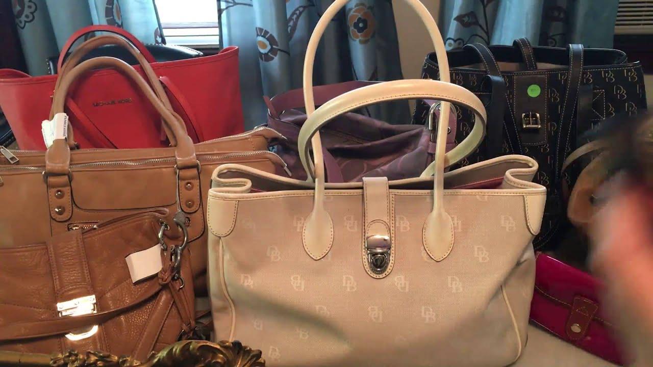 8c60dd221e77 Handbag Makeup Thrift Haul Garage sale Finds - YouTube